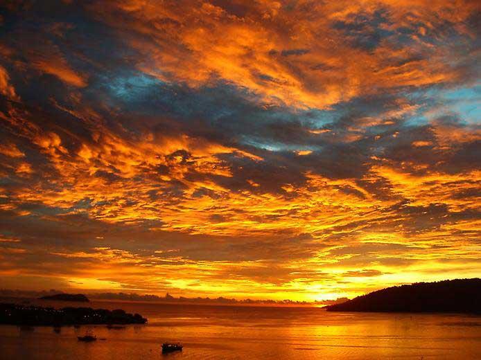 как фотографировать закат