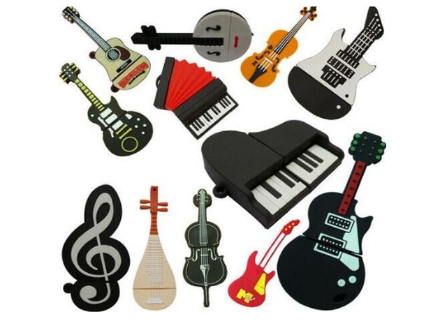 Флешка в виде музыкальных инструментов