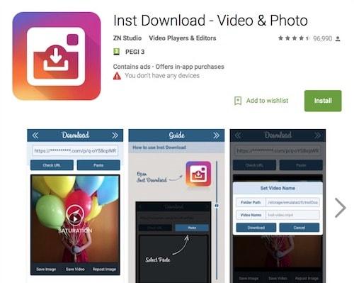приложение для скачивания фото с инстаграма айфон занимает