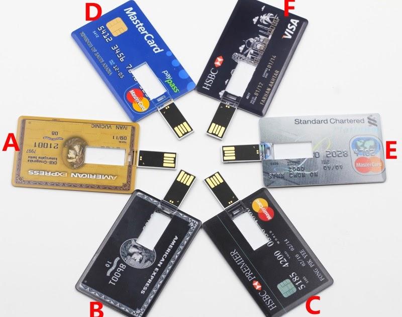 Флешка в виде банковской карты