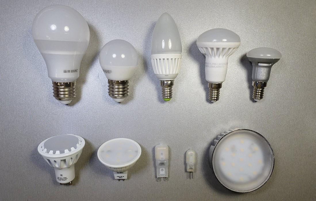 LED-лампы разных типов