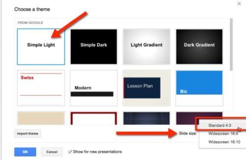 макет гугл презентации